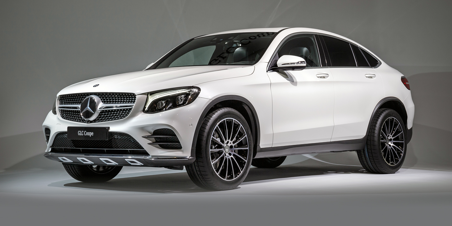 2017 mercedes benz glc coupe amg glc43 coupe revealed for Mercedes benz cars pictures