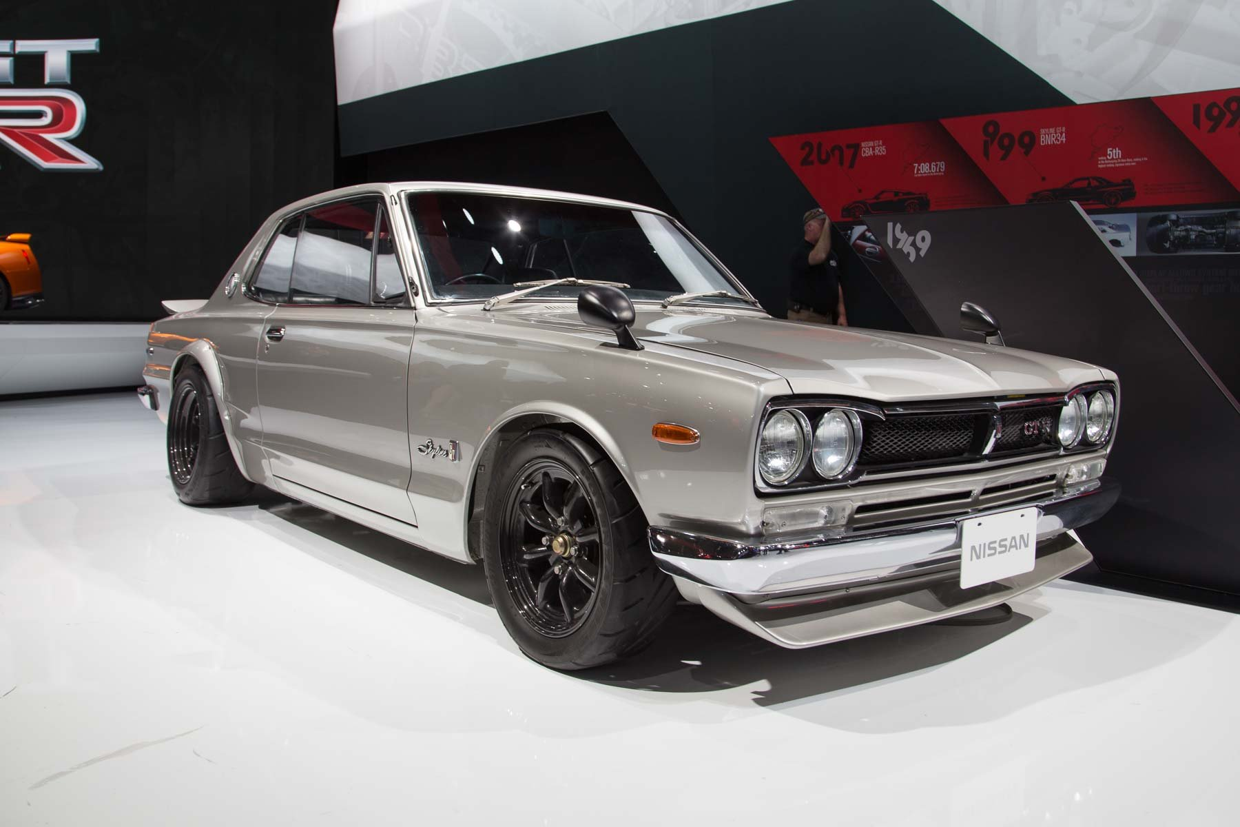 nissan gt r and skyline gt r six generations on display in new york photos caradvice. Black Bedroom Furniture Sets. Home Design Ideas