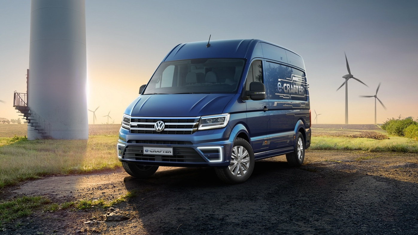 volkswagen e crafter electric van concept revealed. Black Bedroom Furniture Sets. Home Design Ideas