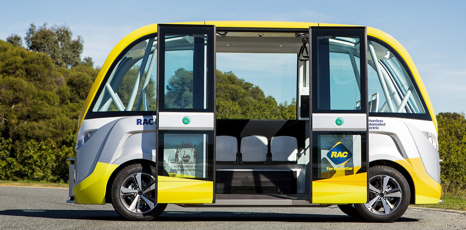 australia s first autonomous bus hits the road in perth photos caradvice. Black Bedroom Furniture Sets. Home Design Ideas