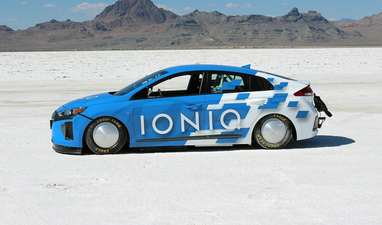Hyundai Ioniq Sets Land Speed Record At Bonneville Salt