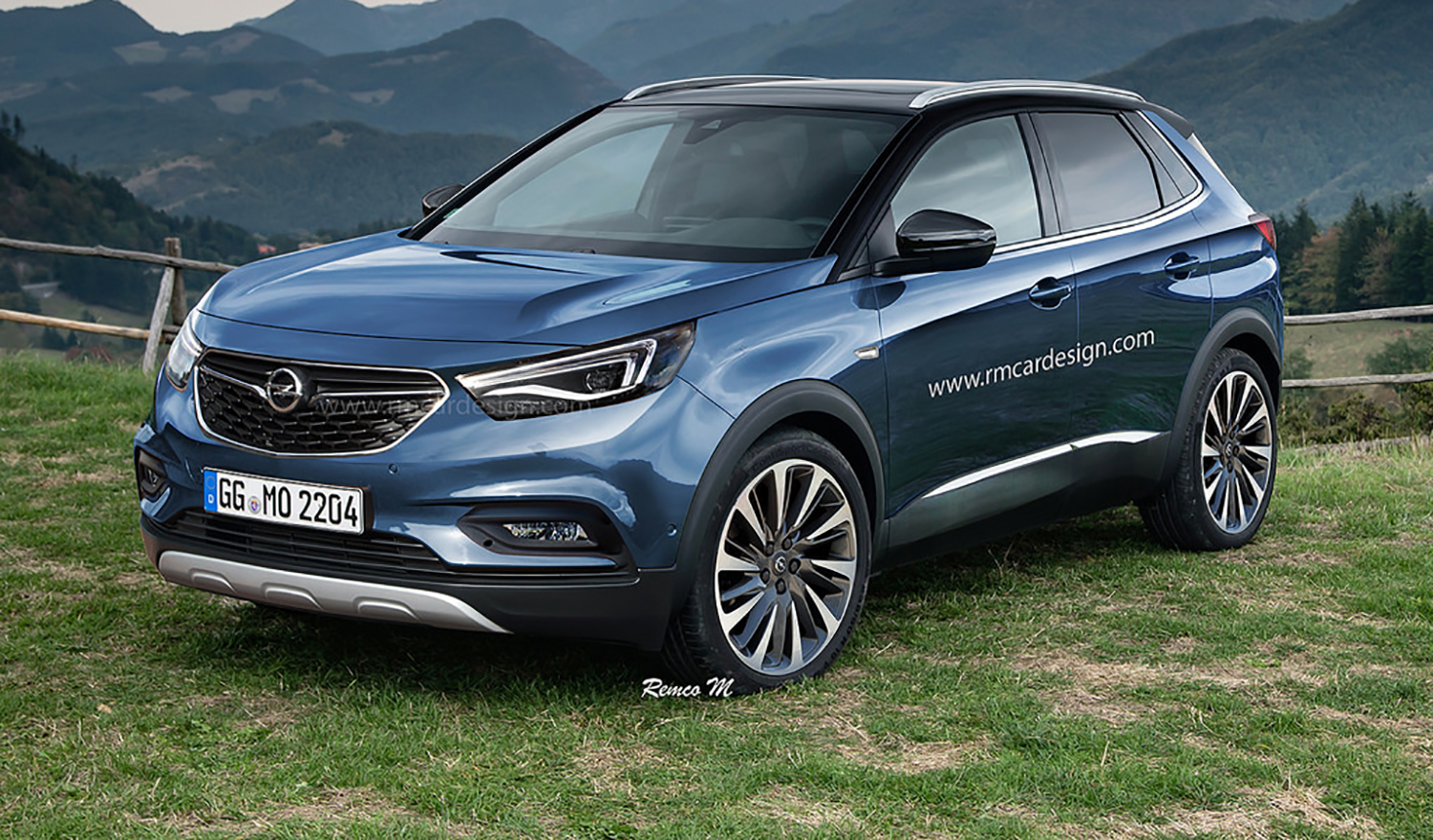 2017 opel grandland x rendered upcoming small suv. Black Bedroom Furniture Sets. Home Design Ideas
