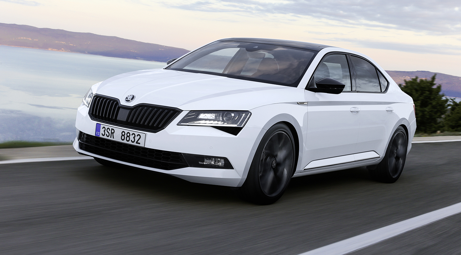 2017 skoda superb sportline new flagship here in february photos caradvice. Black Bedroom Furniture Sets. Home Design Ideas