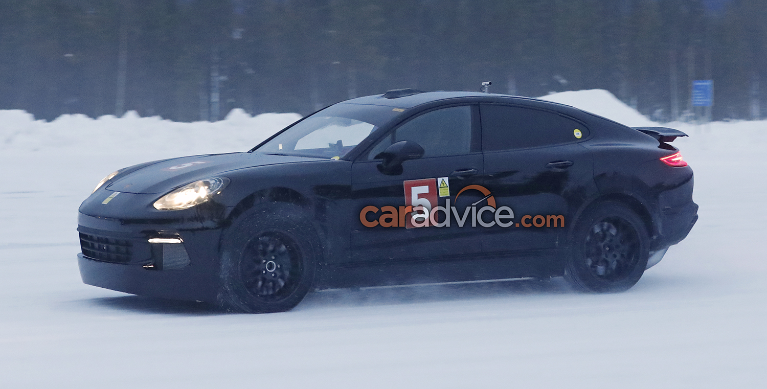 2018 Porsche Cayenne Coupe Spied Again Could Get All Electric Power Photos Caradvice