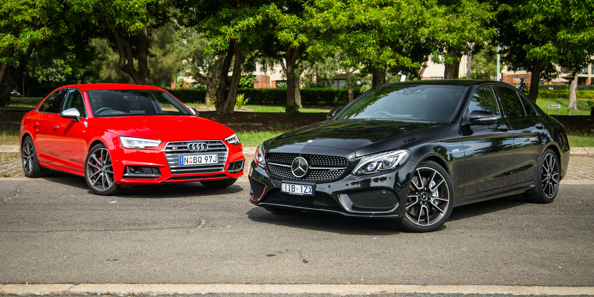 C43 Amg Sedan >> Audi S4 v Mercedes-AMG C43 sedan comparison - Photos