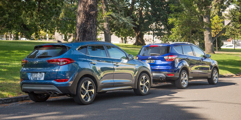Ford Escape Titanium v Hyundai Tucson Highlander petrol SUV comparison - Photos