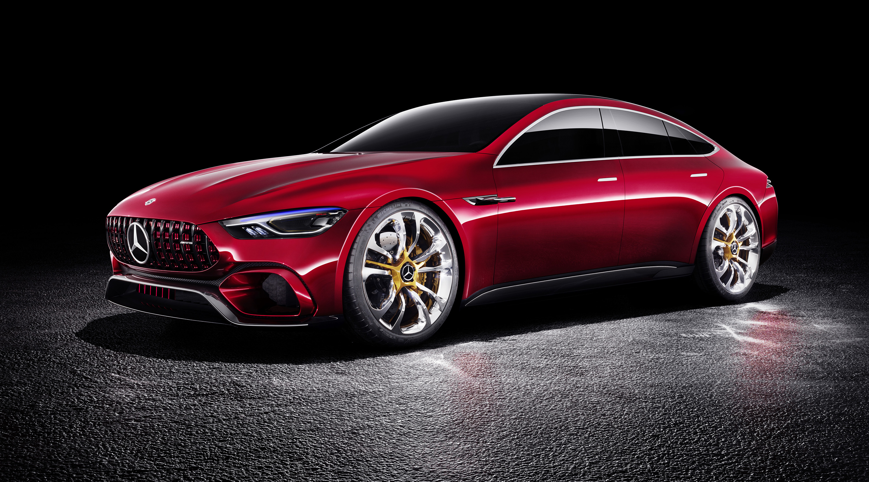 Mercedes amg gt four door concept revealed photos for 2017 mercedes benz gts amg price