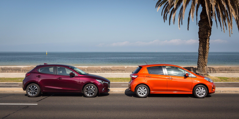 News 4 Tucson >> Toyota Yaris v Mazda 2 comparison - Photos