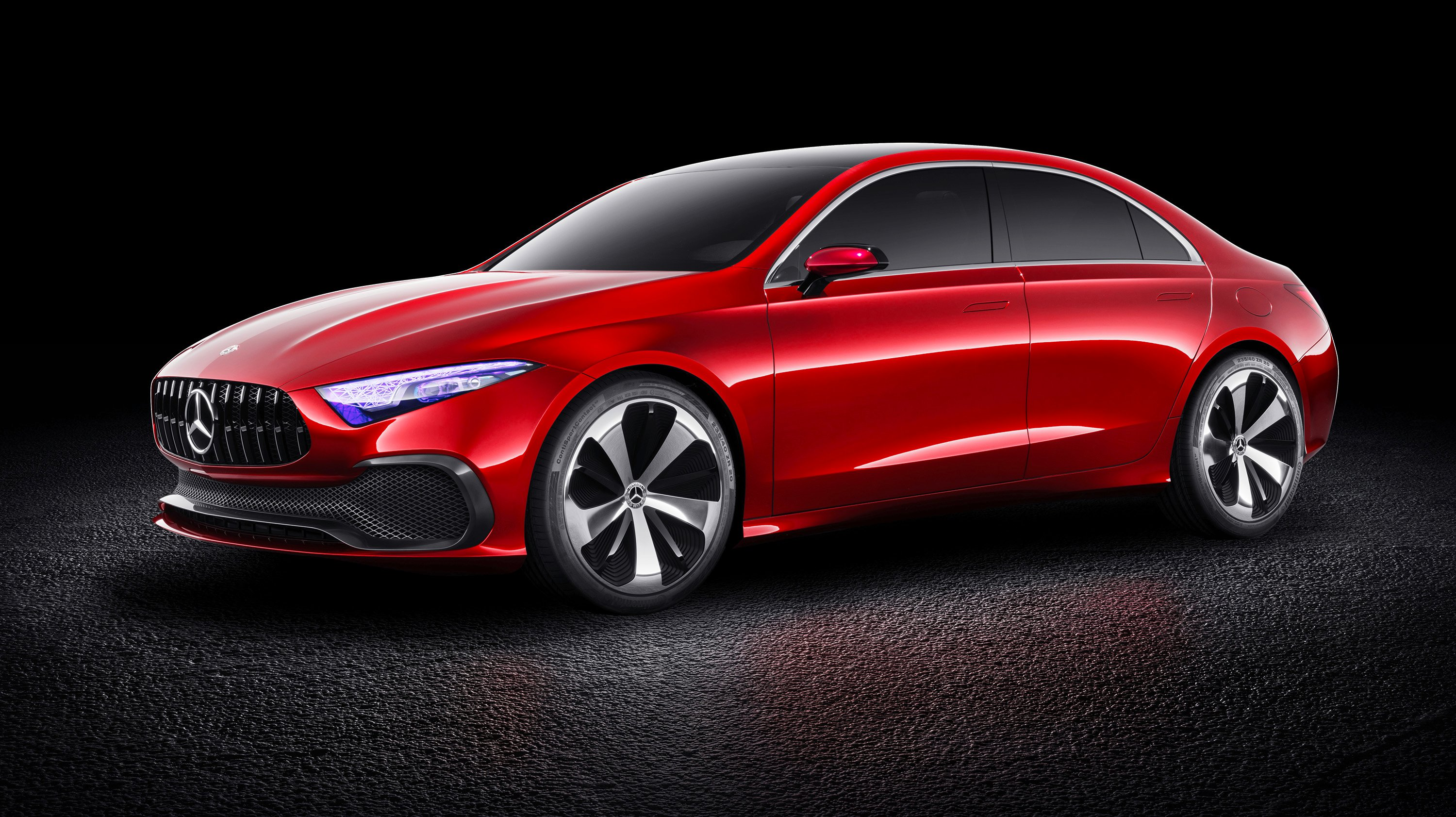 2018 mercedes benz a class sedan concept revealed photos for Mercedes benz cars