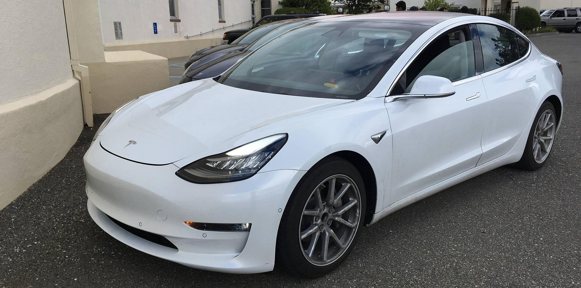 2018 Tesla Model 3 Spied And Specifications Leaked Update With Interior Photos Photos 1 Of 8