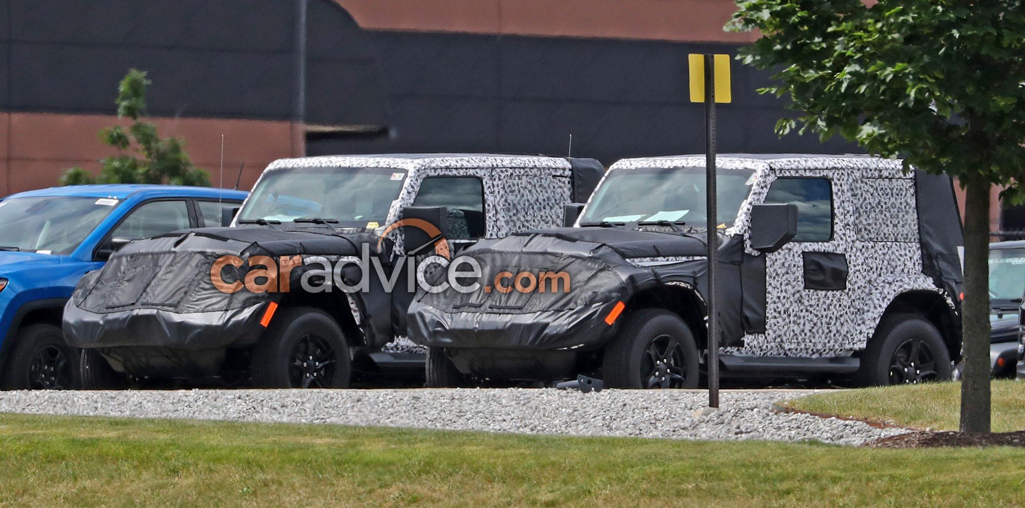2018 Jeep Wrangler Two Door Spied