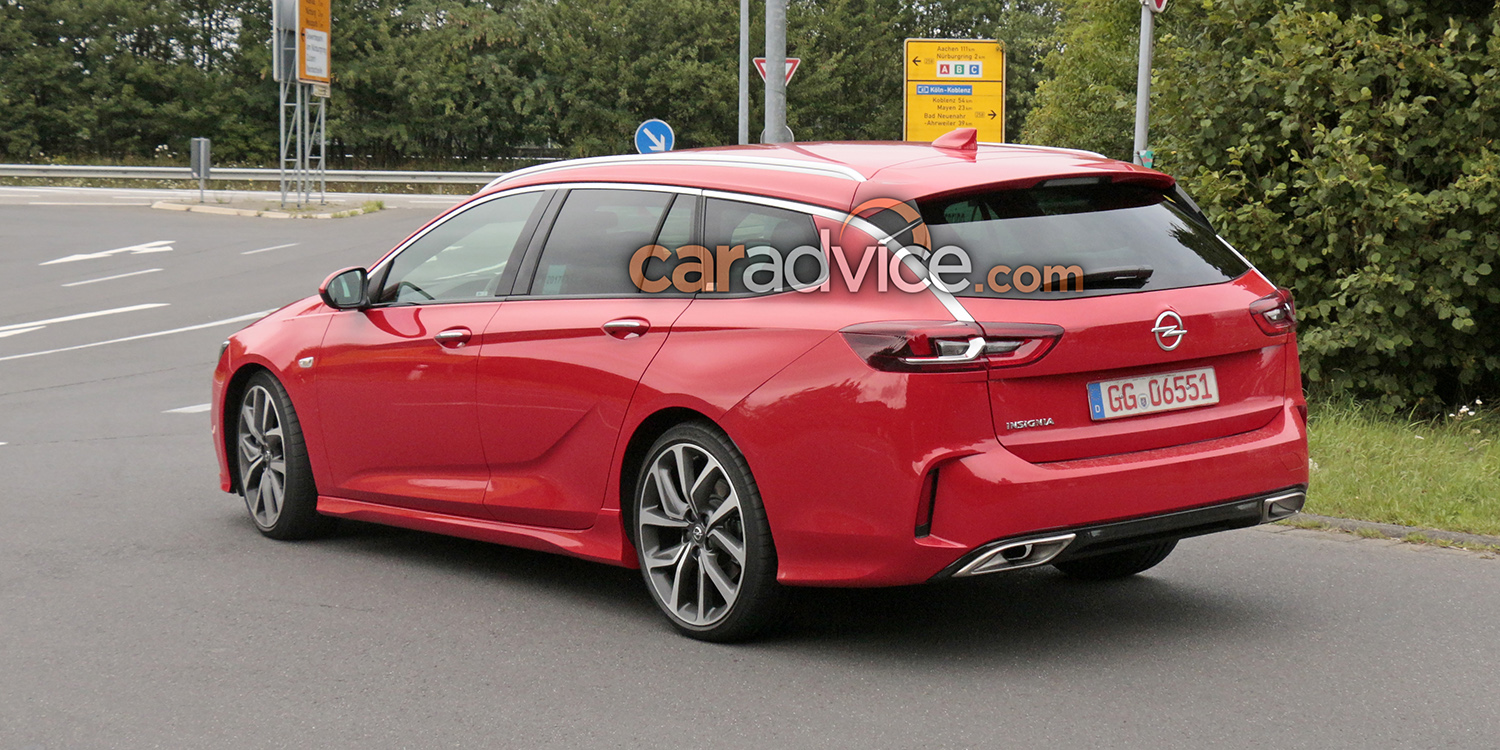 2018 Opel Insignia Gsi Sports Tourer Spied At The Nurburgring Photos Caradvice