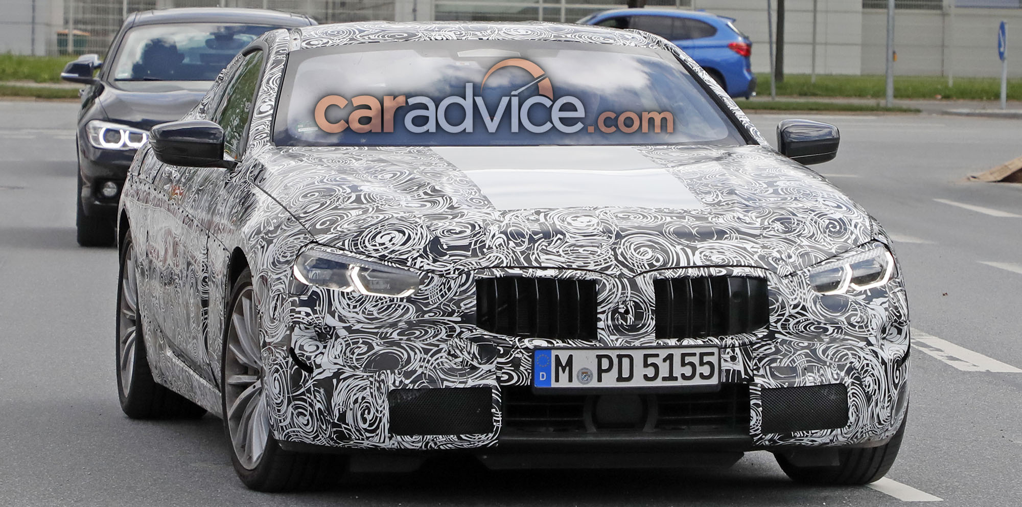 2018 bmw 8 series spied with production lights photos. Black Bedroom Furniture Sets. Home Design Ideas