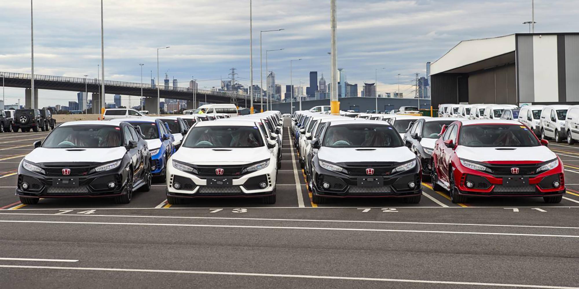 2018 Honda Civic Type R docks in Australia - photos | CarAdvice