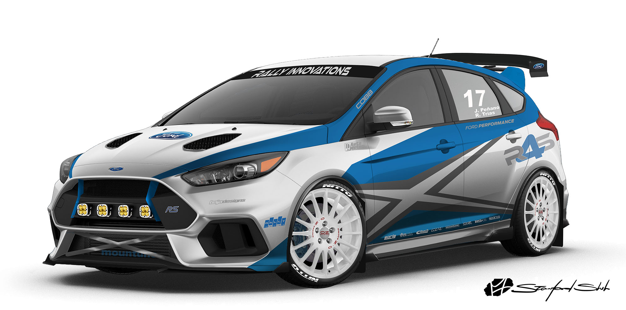 ford focus rs and st concepts unveiled ahead of sema 2017. Black Bedroom Furniture Sets. Home Design Ideas