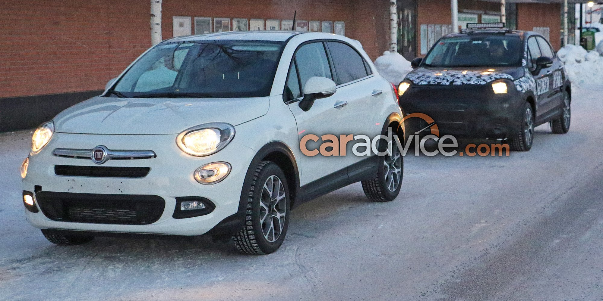 2019 fiat 500x spied photos. Black Bedroom Furniture Sets. Home Design Ideas